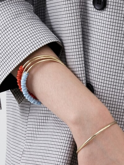 Color Rope Bangle - Gold, Silver