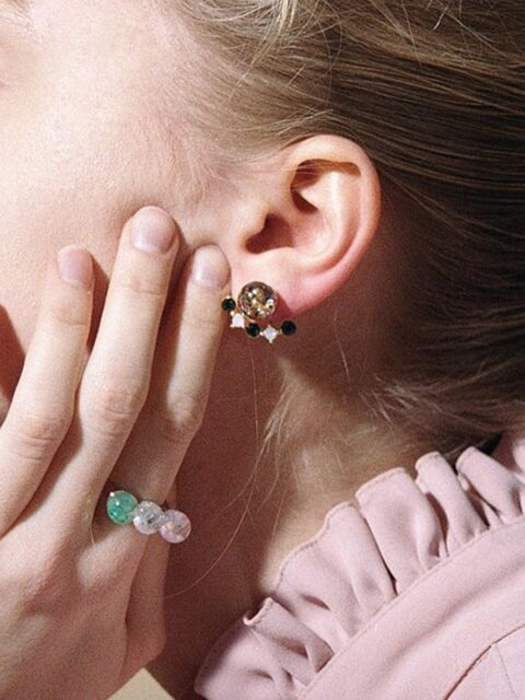 Luvly 2way Snowball Earrings