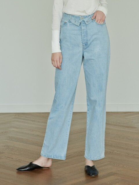 17FW HIGH-WAIST WIDE-LEG DENIM PANTS (LIGHT BLUE)