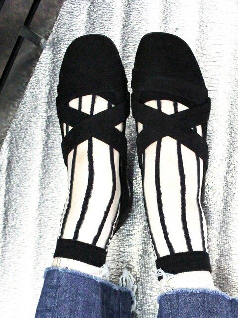 IG308 Black X strap Loafer