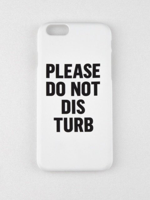 DO NOT DISTURB IPHONE CASE_WHITE