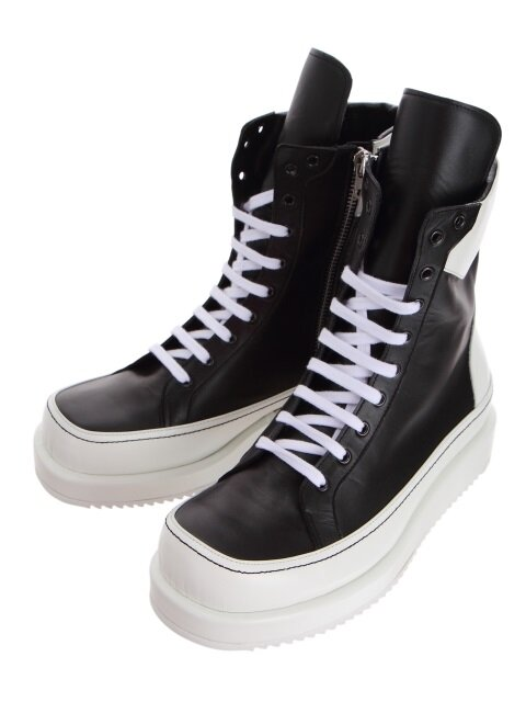 Black & White Leather Boots
