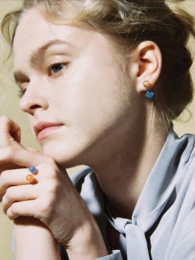 Vivid 2way Snowball Earrings