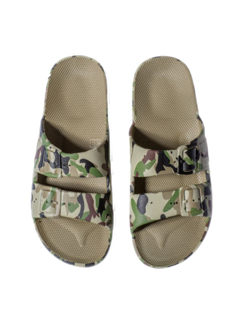 MOSES MEN FREEDOM SLIPPERS ARMY KHAKI
