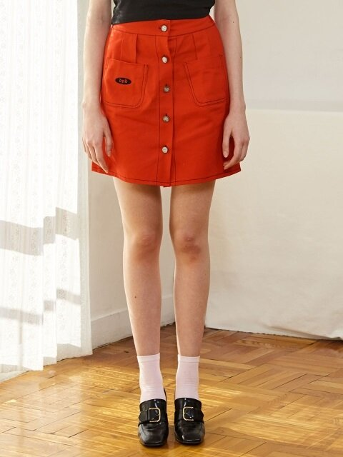 Logo Open Skirt_Red