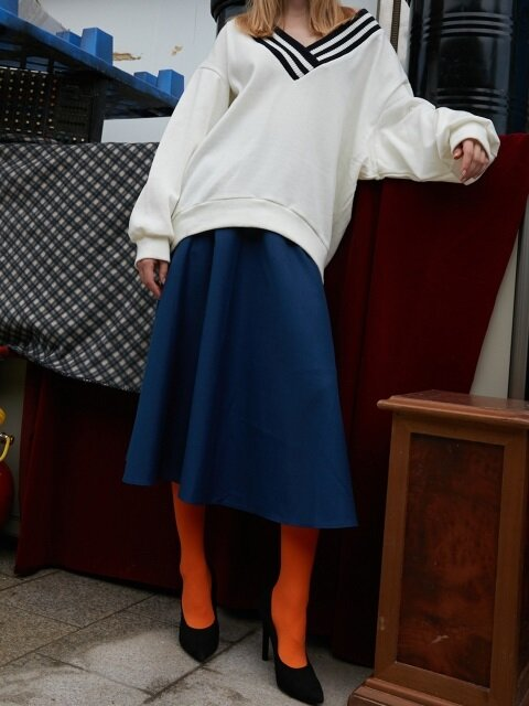 BLUE PLARE SKIRTS - BLUE