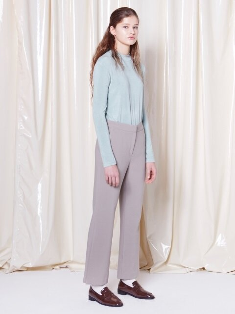 SIDE SLIT PANTS DARK TURQUOISE