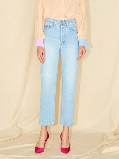 HIGH WAIST DENIM PANTS_LIGHT BLUE/BLUE