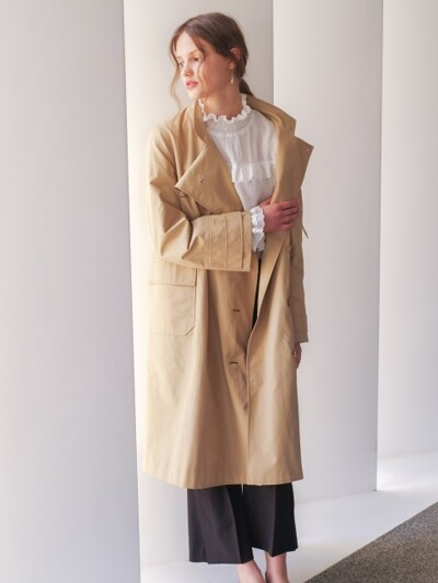 monts328 high-neck trench coat