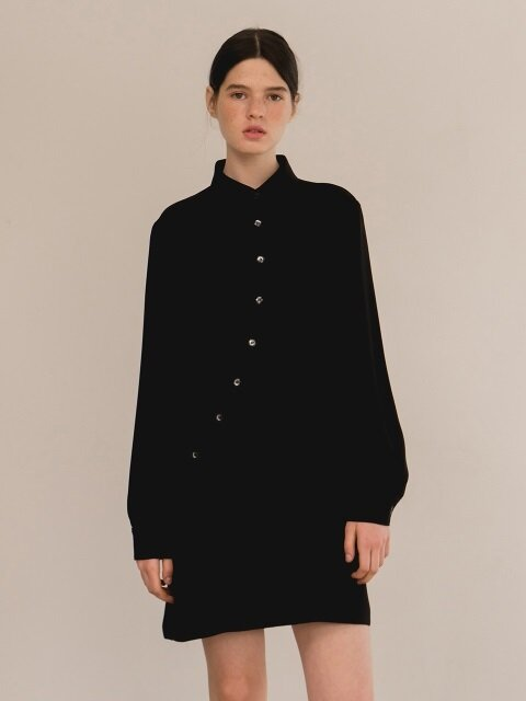 Collar one-piece-black