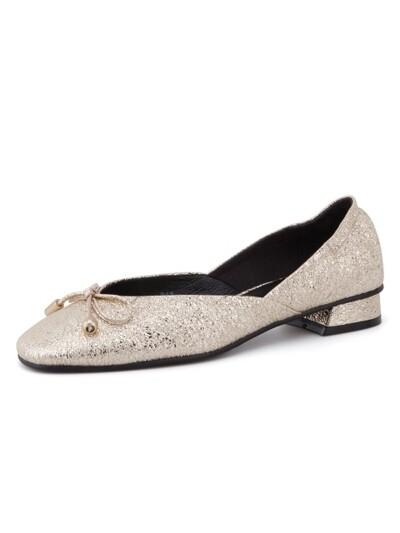 Anybody Anywhere Flat Shoes Gold crack_0049