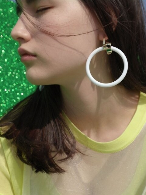 Hoop hoop earrings