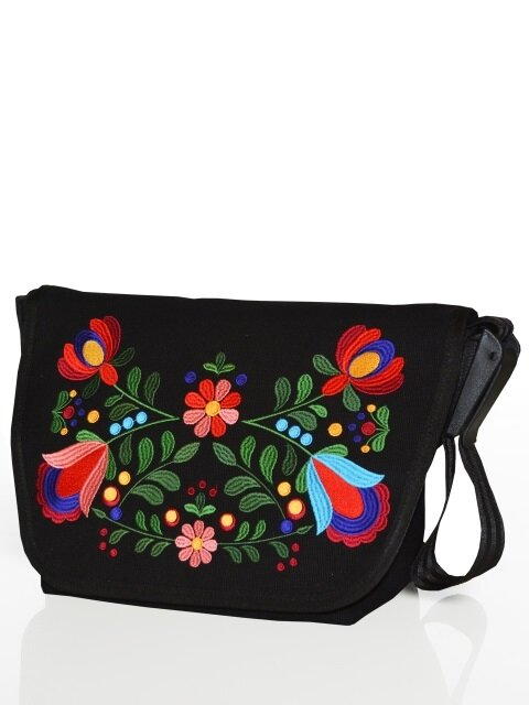 D104 ALMA Messenger bag (BLACK)