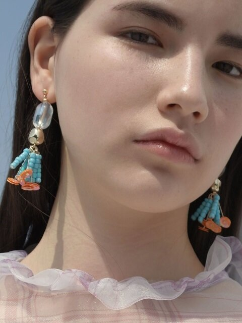 Fruit stone earrings