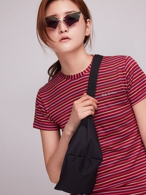 Baby Candy Stripe T-Shirt [WINE]