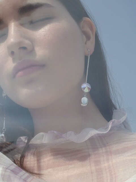 Glam opal earrings