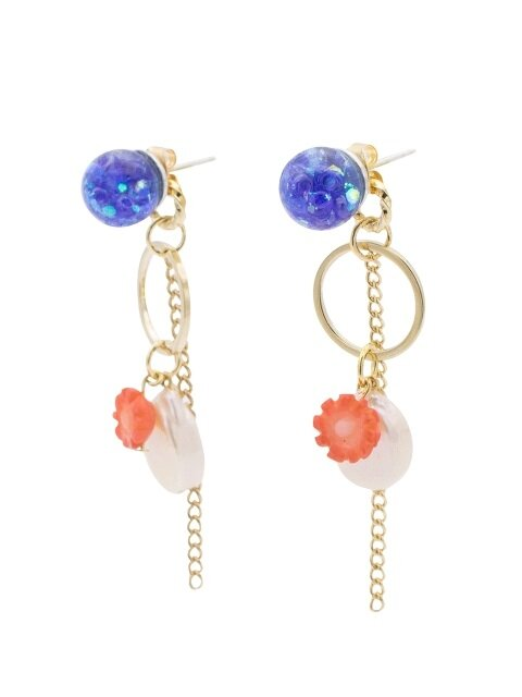 Snowball, Aloha Drop Earrings