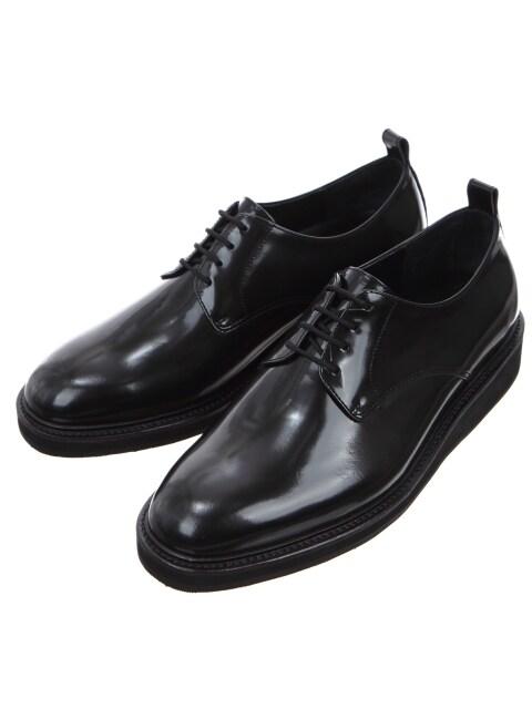 Black Glossy Leather Derbys