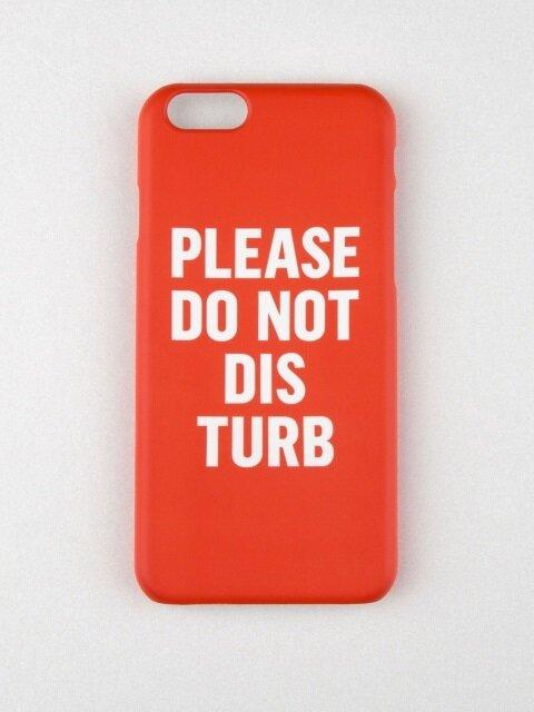 DO NOT DISTURB IPHONE CASE_RED