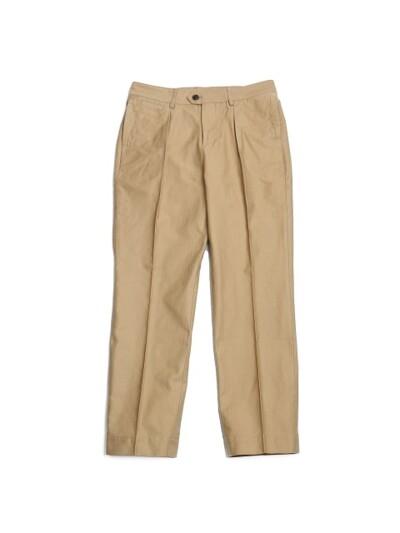 Millspaugh One tuck Cotton Pants Beige