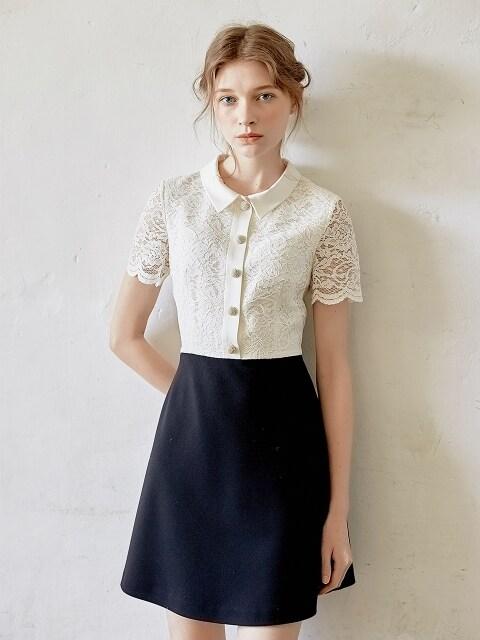 [Ceremony l D7AMA4036M] Lace Top Classic Dress