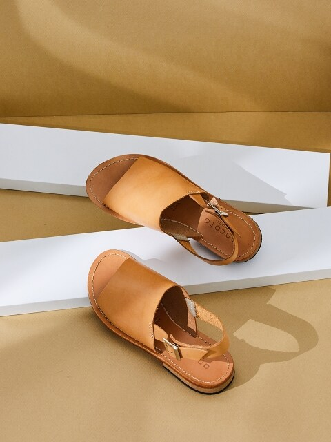 LEATHER SLINGBACK SANDAL_BEIGE