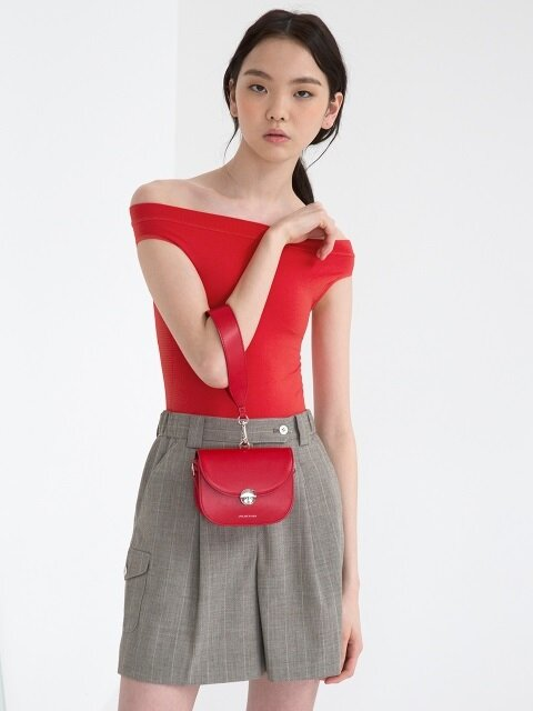 MINI SADDLE BAG, Red