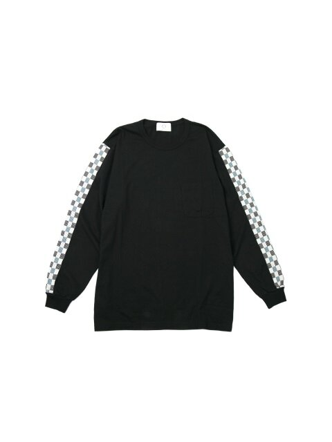 CHECK LINE LONG SLEEVE T-SHIRT black