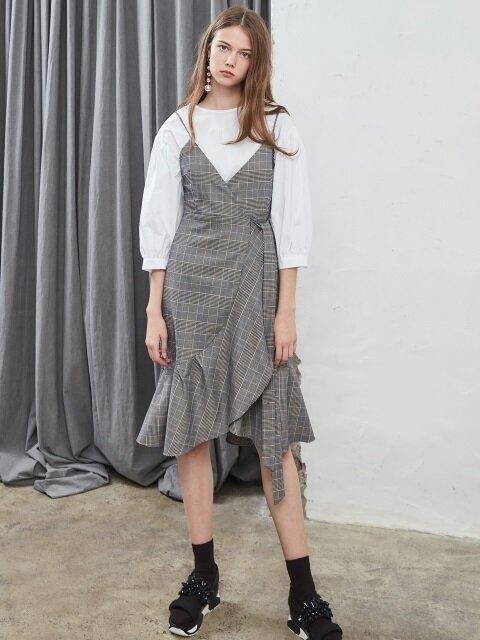 17 FALL_Classic Glen Check Wrap Dress