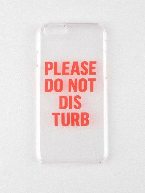 DO NOT DISTURB IPHONE CASE_CLEAR