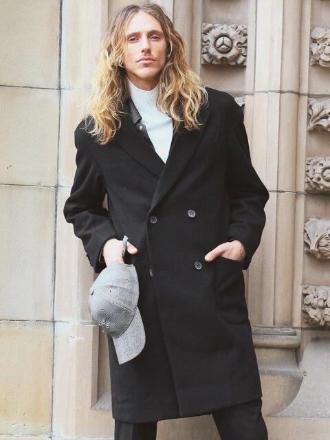 [Wool] Overfit Heavy Coat(black)