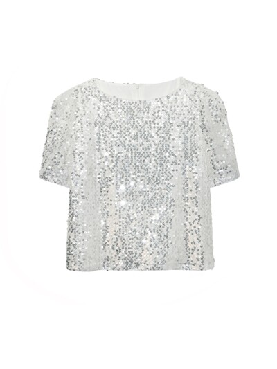 SHOULDER PUFF SPANGLE  TOP_WHITE