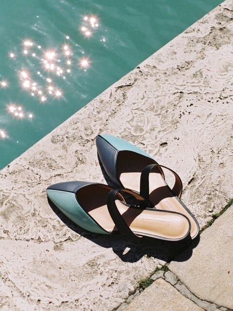 mondrian sandals (mint)