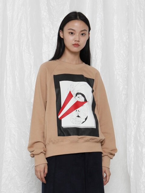 [UNISEX]R YEAR-END ILLUSTRATION SWEATSHIRT
