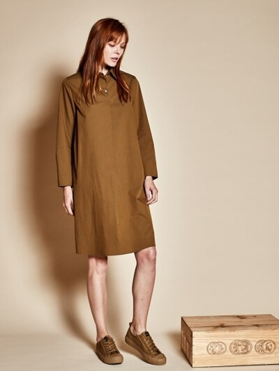 Three button dress_khaki