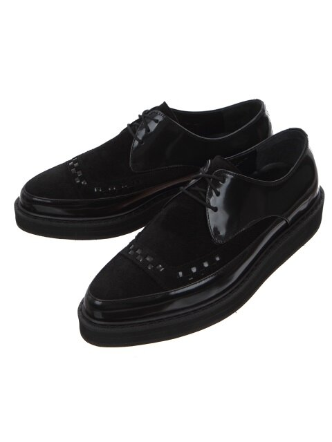 Black Leather Creepers