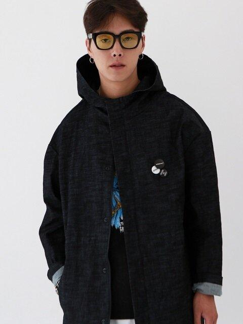 Overrate denim Hood coat_BL