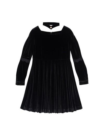 SHINING VELVET MINI DRESS_BLACK