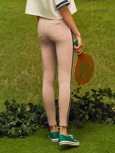 (PT-18151)ROLA BAND POINT PANTS PINK