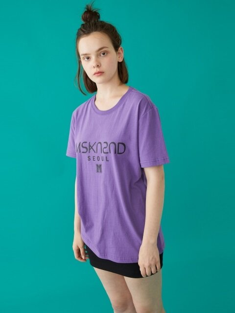 MSKN2ND LOGO PRINTED SS T-SHIRT ULTRA VIOLET