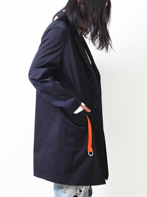 OVERSIZED RING COAT/NAVY