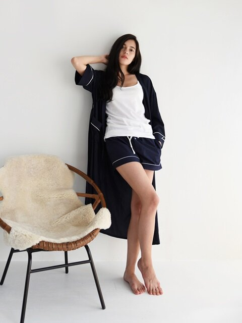 PJM Long Robe _ Navy