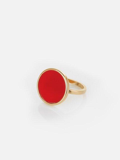 CIRCULAR FLAT RED RING