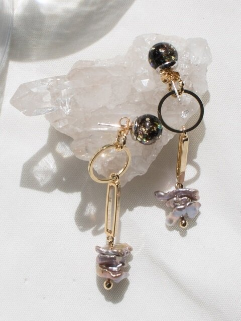 Snowball, Gemstone Drop Earrings 1