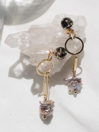 Snowball, Gemstone Drop Earrings 1