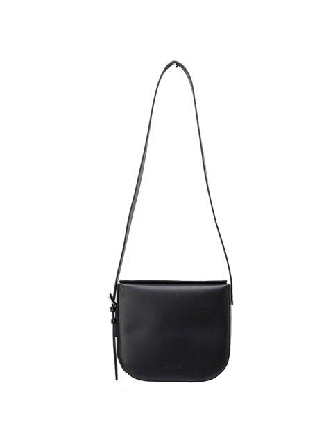 Belted Saddle ShoulderBag [Black]