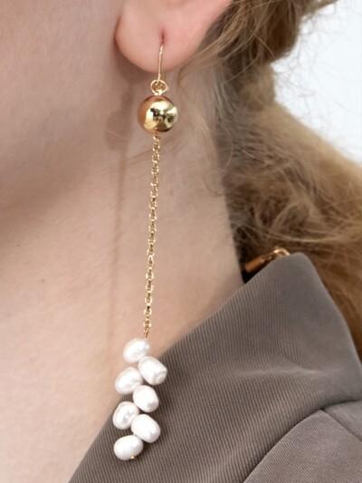 Wheat Pearl Single Earring
