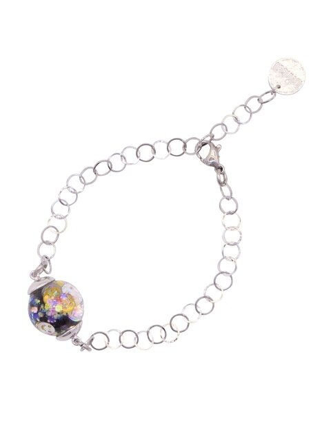 Surgical Steel Snowball Bracelet-Smile