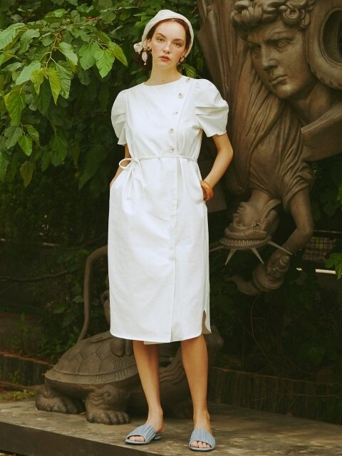 [EXCLUSIVE]PUFF SLEEVE DRESS (ivory)