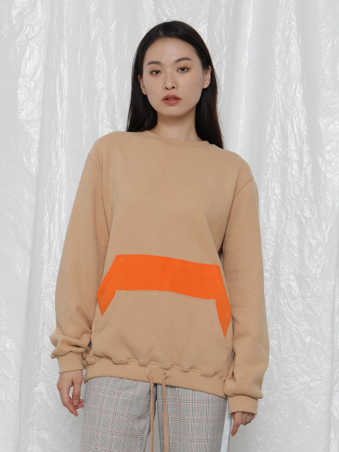[UNISEX]R DOUBLE POCKETS SWEATSHIRT